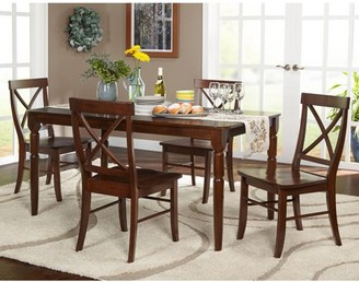 Target Marketing Systems Brown Albury 5-Piece Cross Back Dining Set