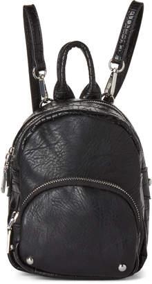 Urban Expressions Black Odessa Mini Vegan Backpack