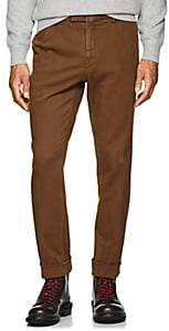 Boglioli Men's Cotton Twill Cuffed Trousers - Beige, Tan