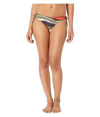 Vince Camuto Tidal Stripe Cinch Tie Side Bikini Bottoms