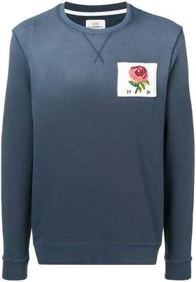 Kent & Curwen rose patch sweatshirt