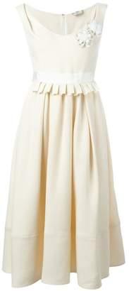 Fendi flower appliqué dress