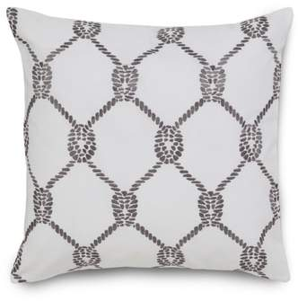 Southern Tide Breakwater Embroidered Rope Accent Pillow