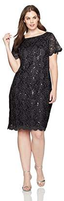 Tiana B Women's Plus Size Lace Sheath Dress
