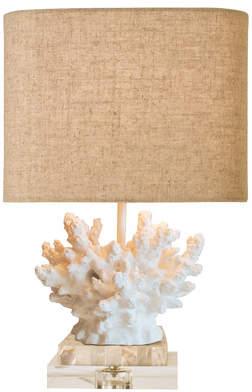 Couture Couture, Inc. Coastal Retreat Wayfarer Coral 17 Table Lamp