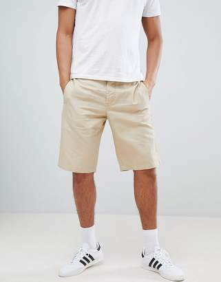 Benetton Linen Shorts In Beige
