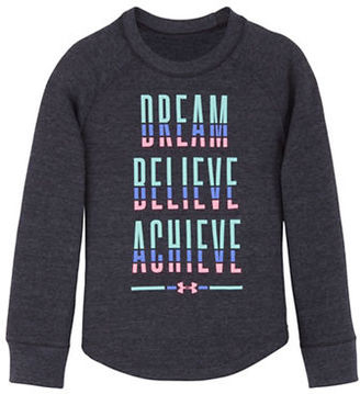 Under Armour Girls 2-6x Dream Believe Achieve Top $29.99 thestylecure.com