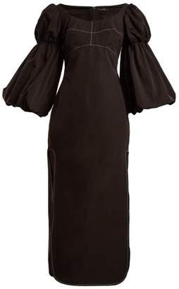Ellery - Sky High Bubble Sleeve Dress - Womens - Black