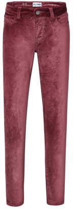 DL1961 Premium Denim Chloe Straight-Leg Velvet Pants, Size 7-16