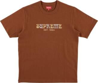 Supreme Nouveau Logo Tee - 'FW 18' - Rust