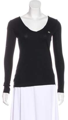 Lacoste Long Sleeve V-Neck Top