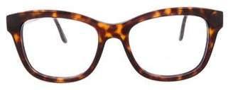 Stella McCartney Tortoiseshell Wayfarer Eyeglasses