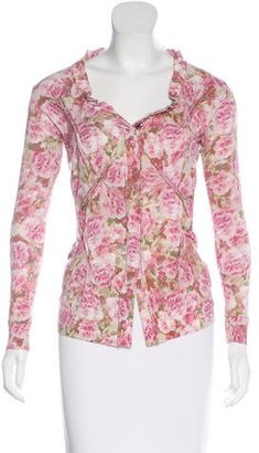 Twin.Set Floral Print V-Neck Sweater $65 thestylecure.com