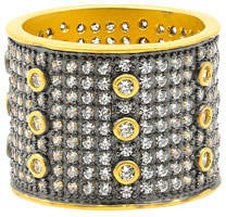 Freida Rothman Signature All Over Pave Wide Band Ring, Size 5-9