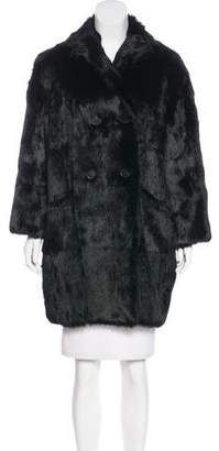 Isabel Marant Double-Breasted Fur Coat