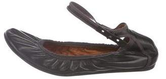 Lanvin Leather Round-Toe Flats