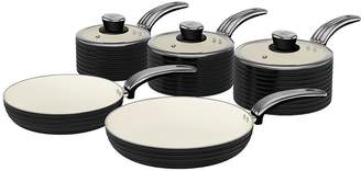 Swan Retro 5-Piece Pan Set - Black