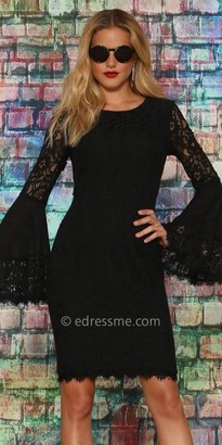 NUE by Shani Bell Sleeve Lace Dress $336 thestylecure.com