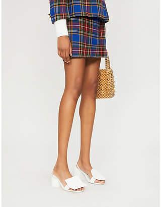 Moschino SEROTONIN VINTAGE tartan wool skirt