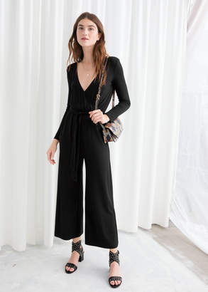 And other stories Belted Wrap Jumpsuit