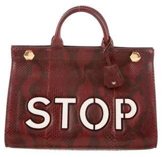 Anya Hindmarch Python Hexagon Top Handle Bag