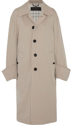 Burberry - Oversized Cotton-twill Coat - Beige $1,795 thestylecure.com