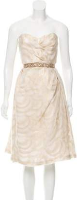 Peter Som Embellish-Accented Midi Dress w/ Tags