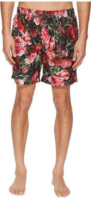 Dolce & Gabbana Mid Length Roseto Boxer w/ Bag