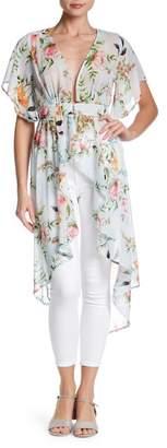 Meghan LA Floral Petal Maxi Blouse