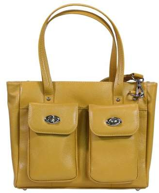 Gun Toten Mamas Cargo Pocket Cowhide Tote Yellow
