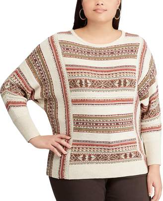 Chaps Plus Size Stripe Sweater
