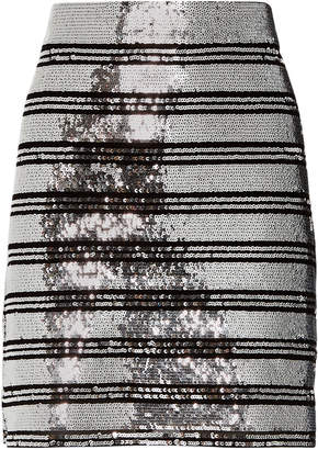 Derek Lam 10 Crosby Sequin Stripe Mini Skirt