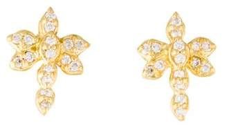 Jamie Wolf 18K Diamond Dragonfly Stud Earrings