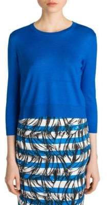 Prada Cropped Wool Pullover Sweater