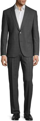 HUGO 2-Piece Wool-Blend Plaid Suit