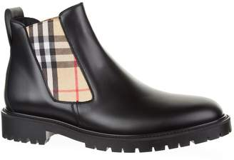 Burberry Vintage Check Leather Boots