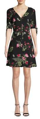Vero Moda Floral Short Sleeve Fit-&-Flare Dress