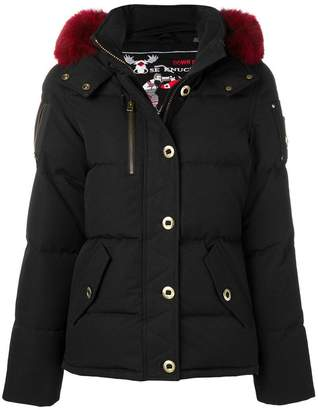 Moose Knuckles fur-trimmed puffer jacket