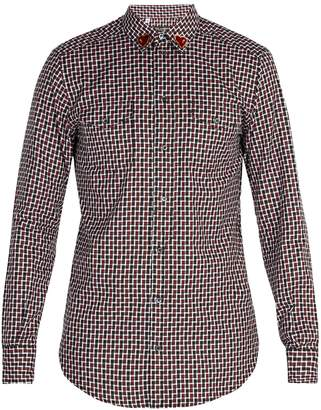 Dolce & Gabbana Heart-patch cotton shirt