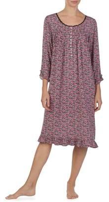 Eileen West Print Waltz Nightgown