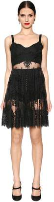 Dolce & Gabbana Sheer Lace Mini Dress