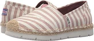 Skechers BOBS Women's Flexpadrille2-Stripe Chambray Ballet Flat