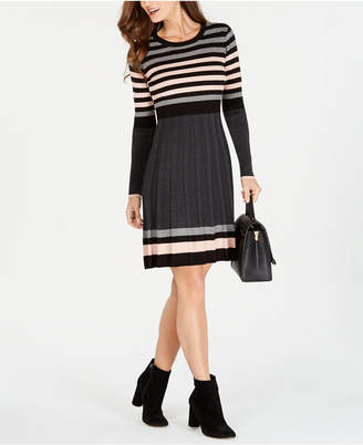 Jessica Howard Striped Sweater Dress