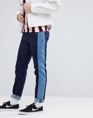 Asos Slim Jeans In Indigo With Side Stripe Insert
