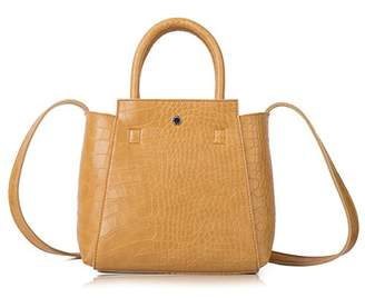 Croco The Lovely Tote Co. Women's Crocodile Pattern Satchel Medium Tote Wing Purse