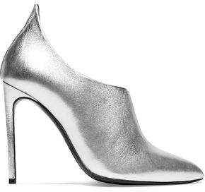 Tom Ford Metallic Textured-Leather Ankle Boots