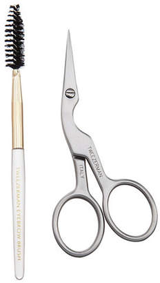 Tweezerman Two-Piece Brow Shaping Scissors and Brush Set