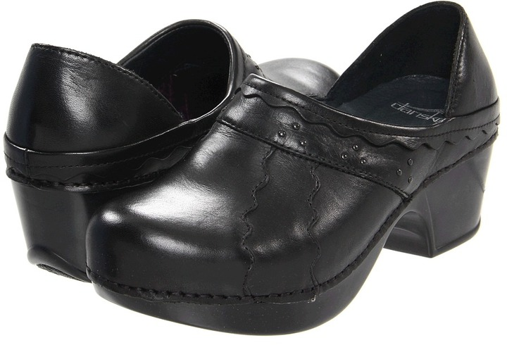 Dansko Hailey (Black Burnished Leather) - Footwear