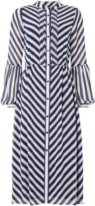 Michael Kors Bias stripe maxi dress