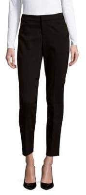 Saks Fifth Avenue Powerstretch Wine Mid-Rise Pants